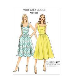 Dress has close-fitting, lined bodice with princess seams, side pockets, narrow…