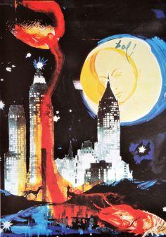 Salvador Dali Manhattan skyline New York art by MarieArtCollection