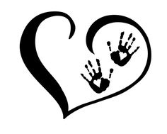 this would make a great tattoo...except with baby's foot prints instead of hands.