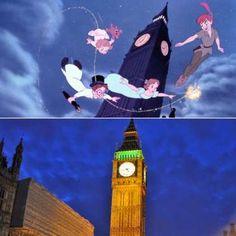 El País de Nunca Jamás se situaba en la segunda estrella a la derecha desde el cielo de Londres. Pet... - ELLE.es