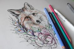 Fuchs Tattoo, Lisa, Fox Tattoo, Fox Art, Animal Tattoos, Pyrography, Occult, Cute Drawings, Tattoo Inspiration