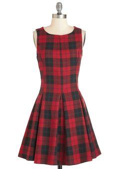 Plaid Case of Loving You Dress | Mod Retro Vintage Dresses | ModCloth.com