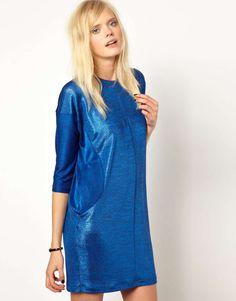 Antipodium Carburetta Dress in Cobalt Metallic      Click Pic Save 40%