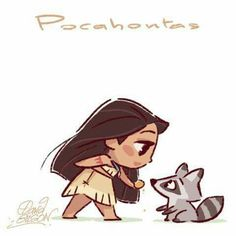 Pocahontas and Meeko by David Gilson
