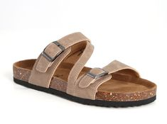 Outwoods Bork Diagonal Strap Sandals for Women in Taupe 21300-734-TAUPE
