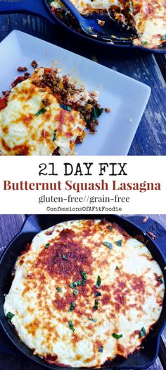 21 Day Fix Lazy Butternut Squash Lasagna {Gluten-free, One Skillet} - Confessions of a Fit Foodie