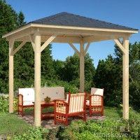 Build the pavilion yourself: Instructions + 25 elegant design ideas Outdoor Areas, Outdoor Structures, Gazebo Plans, Finish Carpentry, Outdoor Pavilion, Garden Gazebo, Simple Furniture, Pergola Kits, Outdoor Living