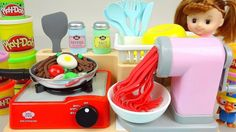 Play Doh noodle spaghetti cooking toy & Kinder Joy Surprise eggs