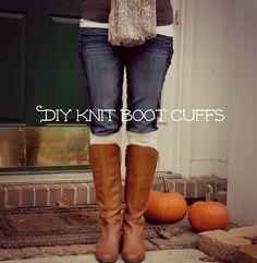 Rachels Nest: DIY knit boot cuffs