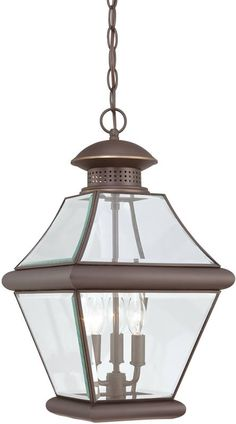 crestwood collection antique bronze 3 light foyer pendant new