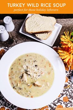 Whether you're trying to figure out what to do with the last of the holiday bird or you plan on taking advantage of post-holiday turkey markdowns, this hearty Turkey Wild Rice Soup will provide the creature comforts you're absolutely craving.