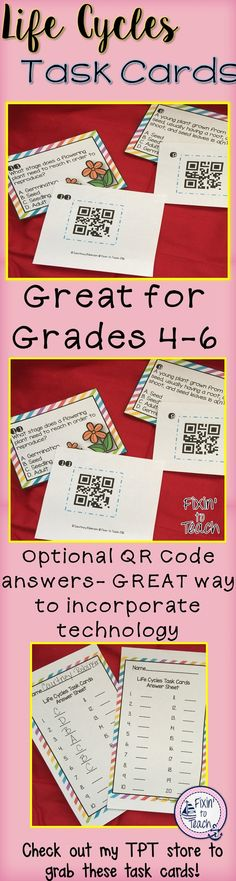 81 best 4th grade life science images on pinterest life science life cycles task cards qr code answers fandeluxe Choice Image