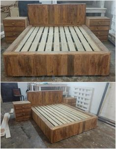 Bedroom furniture is the need of every homeowner. There is no need to purchase bedroom furniture when you can make one at home with wooden pallets.