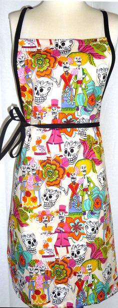 Day of the Dead Novelty Apron by SpoonfulsOfLoveLLC on Etsy, $12.00