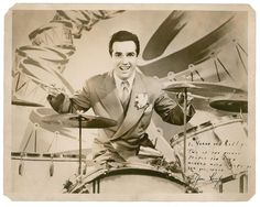 Gene Krupa, the King of the Drums, who nearly re-invented the instrument all on his own-