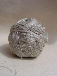 gb supplies - linen yarn:  natural grey silver