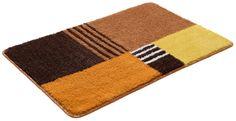Details:  Grafisch gemustert, Trocknergeeignet, Fussbodenheizungsgeeignet,  Qualität:  1,7 kg/m² Gesamtgewicht, 15 mm Gesamthöhe, Waschbar bei 40°C, Latexierter Rücken, Ringsum eingefasst (gekettelt),  Flormaterial:  90 % Polyester, 10 % Polyacryl,  Wissenswertes:  Die halbrunde Matte eignet sich auch ideal als Duschvorleger, Das 2-tlg. Set besteht aus einer Matte 55/50cm und einem WC-Deckel-...