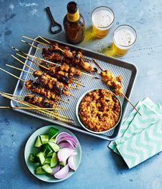 Australian Gourmet Traveller chicken satay recipe by Tony Tan.