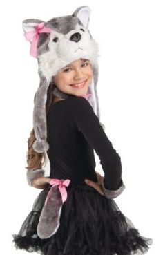 party king kids wolf halloween costume girls plush animal kit - Wolf Halloween Costume Kids