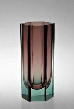 """KAJ FRANCK – Glass vase """"Pilari"""" KF 249 designed in 1956 for Nuutajärvi Notsjö… – Hobbies paining body for kids and adult Bottle Design, Glass Design, Cut Glass, Glass Art, Bauhaus, Japanese Home Decor, Antique Perfume Bottles, Vintage Vases, Small Furniture"""