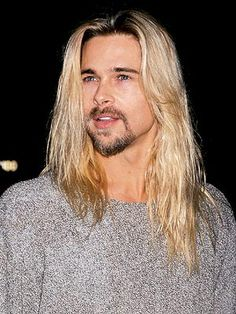Long hair for men was a popular grunge style of the early 90s Brad with roots?  I still ♥ you Brad!!