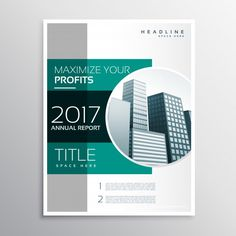 Green business brochure template Free Vector