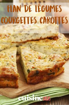 Brunch Recipes 80301 The vegetable flan with zucchini and carrots is an easy accompaniment to cook. Tart Recipes, Brunch Recipes, Diabetic Recipes, Healthy Recipes, Sandwich Cake, Tasty, Yummy Food, Food Hacks, Entrees