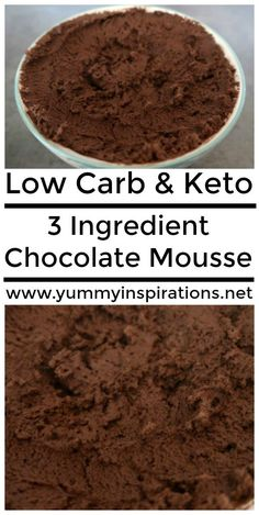 3 Ingredient Chocolate Mousse Recipe - Easy Low Carb & Keto Diet Friendly Desserts - This eggless chocolate mousse is simple to prepare and has loads of indulgent variations.