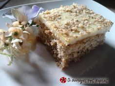 Great recipe for Perfect karidopita with pudding. An easy and refreshing karidopita (Greek walnut cake with syrup) that if you make once,. Greek Sweets, Greek Desserts, Greek Recipes, Delish Cakes, Walnut Cake, Greek Cooking, Sweets Cake, Almond Cakes, Sweets Recipes