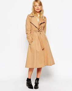 Image 1 of ASOS Trench With Contrast Stitch Detail