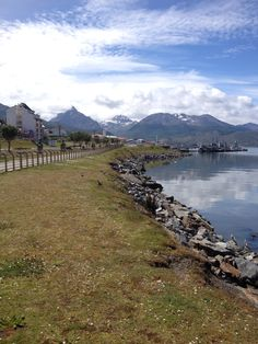 Beagle Canal and the Andes. Ushuaia, Tierra del Fuego, Argentina.
