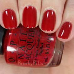 OPI Love Is In My Cards | 2015 Starlight Collection | Peachy Polish #perfect red?