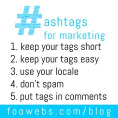 How To Use Hashtags For Marketing  #socialmedia #smallbiz #mktg #howto #biztip #socbiz