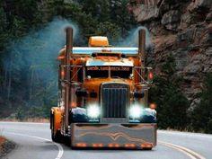 LIKE Progressive Truck Driving School: http://www.facebook.com/cdltruck #trucking #truck #driver   Orange Peterbilt