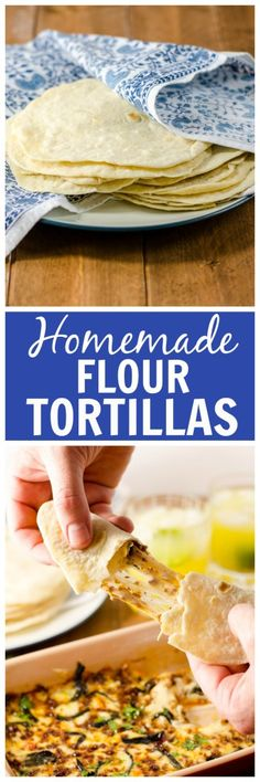 These homemade flour tortillas are tender, fluffy, approximately a bajillion times better than store-bought, and worth every second of your time!