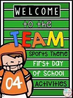 These activities are perfect for ANY classroom! It doesn't matter what your theme is because on those first days we are all trying to establish a classroom team!   Included in the lesson are 14 different beginning of the school year activties!