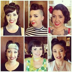Another fun day of pinup makeovers at my #newenglandshakeup stop of my fall tour! So many beautiful babes with great stories. Love all of my girls. Hair by me and makeup by @bomberbettycosmetics
