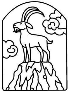 Kleurplaat sterrenbeeld steenbok