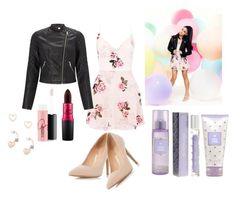 """Ariana Grande Lipsy Rose print"" by kregi800 ❤ liked on Polyvore featuring Lipsy, MAC Cosmetics and Dorothy Perkins"
