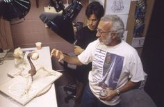 Character Creators Stan Winston and Christopher Swift discuss the progress of the sculpture for SMALL SOLDIERS' shy Gorgonite, Ocula.