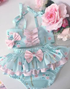 I just cant ❤❤❤❤ Baby Bloomers, Baby Girl Romper, Little Girl Fashion, Kids Fashion, Little Girl Dresses, Girls Dresses, Toddler Outfits, Kids Outfits, Baby Dress Design