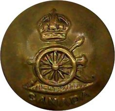 Royal Canadian Artillery - Military uniform button for sale Buttons For Sale, Kings Crown, Armed Forces, World War Two, Badges, Canada, Brass, Military, Buttons