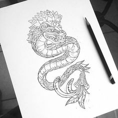 Risultati immagini per quetzalcoatl drawing Angel Devil Tattoo, Angel And Devil, Mini Tattoos, Body Tattoos, Lateinisches Tattoo, Latin Tattoo, Aztec Tattoo Designs, Aztec Art, Tatting