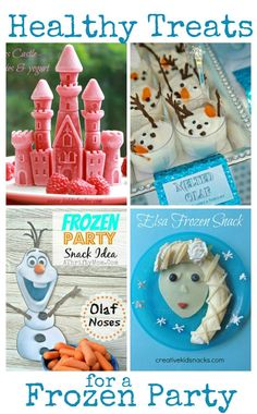 Healthy treats and snacks for a Frozen Party-melted olaf yogurt cup Elsa Birthday Party, Birthday Party Treats, Frozen Themed Birthday Party, Disney Frozen Birthday, 5th Birthday, Birthday Ideas, Frozen Themed Snacks, Frozen Party Food, Food Themes
