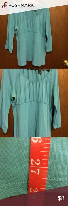 Liz Claiborne Aqua Top $3,$4,$5 ITEMS MUST BE BUNDLED😊Prices in this Closet are LOW AND FIRM. No bargaining needed😉 Makes it so much easier to just offer low low prices from the start 😊ASK ALL THE QUESTIONS YOU WANT BEFORE PURCHASING. 😘. TRADE VALUE IS $5.00 HIGHER THAN LISTED SALE PRICE!!😜 I NOW WORK 2 JOBS AND DO POSH AS MUCH AS I CAN. I BOX UP ALL ORDERS FOR THE WEEK ON SUNDAYS AND ALL BOXES ARE SHIPPED ON MONDAY MORNINGS. 💞💞 FOLLOW @dawnstreasures @isagenix @awesomestuff2 Liz…