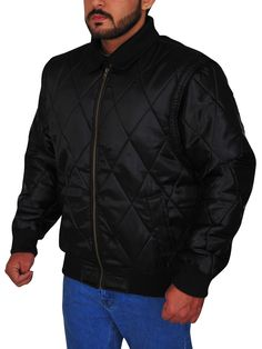 The Ryan Gosling Scorpion Drive Logo Jacket is a classic looking black jacket made from satin with full-length sleeves and a zipper style closure. Ryan Gosling Drive, Scorpion, Black Fabric, Rib Knit, Shirt Style, Winter Jackets, Leather Jacket, Celebs, Sleeves