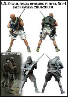 SOF Operator in Afghanistan. 1:35 scale resin figure from Evolution Miniatures. Click on the pic for more details