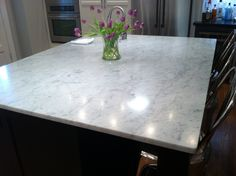 White Marble Kitchen Island. Simple, Classic, Elegant. Miami Circle Marble  U0026 Fabrication