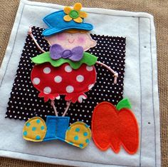 adorable Little Clown trick-or-treater for a #quiet book. He's 1 of 6 LITTLE SPOOKS that have interchangable costumes for pre-Halloween fun! available at etsy....Lindy J Design