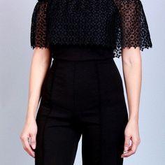 Off the Shoulder Jumpsuit Online Clothing Boutiques, Boutique Clothing, Off The Shoulder, Peplum Dress, Jumpsuit, Womens Fashion, Clothes, Dresses, Style
